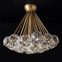 Luxury American RH DECO LED Люстра Luster Крытый освещение Потолочная люстра Кристалл Ламбаты G4 Любльское освещение