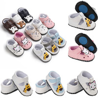 Canis Fashion Cute Newborn Baby Girl Boy Suela blanda de cuero Zapatos de cuna Animal Print Antislip Sneaker Prewalker
