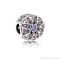 Authentic 925 sterling silver adatti a braccialetto Pandora perline rosa charms per serpenti europei catena di fascino collana moda gioielli fai da te