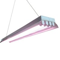 4ft 4 Lampada T8 Fluorescenti Fixtures Ho BULB INCLUSO PER GIARDINO HARTIRTURE INDOOR Giardinaggio T8 Ho LED Grow Tube Lights Fixtures (4 Tube, 4ft)
