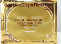 Nuovo oro Bio Bio Collagene Maschera Facciale Maschera di cristallo in polvere in polvere collagene facciale maschera fogli idratante bellezza pelle cura della pelle Prodotti