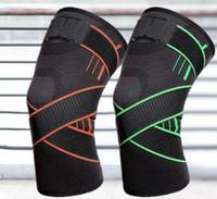 Diseño de la rodilla almohadillas de seguridad ciclos de presión ejercicio físico tejer rodilla protector de la rodilla equipo de ejercicios de fútbol Baloncesto Deportes Fútbol
