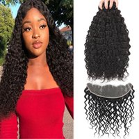 Remy 9A Brazilian Hair Water Wave With 13x4 Ear To Ear Lace ...