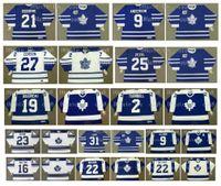 Vintage Toronto Maple Jersey Yapraklar 16 MIKE WALTON 22 TIGER WILLIAMS 23 PAT QUINN 31 KABAK FUHR 9 NORM ULLMAN 19 BRUCE BOUDREAU CCM Hokey