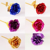 Gold Foil Rose Flower Handcrafted Handmade Dipped Long Stem ...