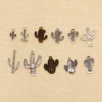 60 قطعة سحر لصنع المجوهرات اليدويه نبات الصبار HJ192