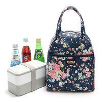 3 cor térmica Duplas almoço Box saco de acampamento ao ar livre cooler Lancheira Bolsa Lady portátil Carry Picnic impressa Food bolsa GJJ144 Atacado