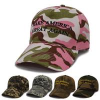 Camuflaje Donald Trump Hat Presidente de América Sombrero de béisbol 2020 Color de camuflaje con bandera estadounidense Trump Gorras de golf HHA340