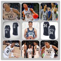 Пользовательские мужчины Penn State Nittany Lions College Баскетбол Джерси Ламар Стивенс Rasir Bolton Kyle McCloskey Myles Bread Myreon Jones Watkins