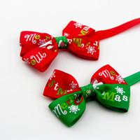 Оптом домашние животные принадлежности аксессуары регулируемые кошки собака галстук снежинки праздник украшения рождественские галстуки собаки bowtie dh0530