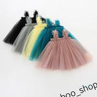 Neonate Tutu Mesh Abiti Garza senza maniche Dress Strap Dress Princess Ball Gown 1-3Y Bambini A-Line Abbigliamento Abbigliamento per bambini 80-130 cm LY421