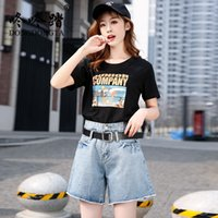 DONGDONGTA 2019 New Summer Women Fashion Shorts Jeans Ladies...
