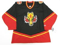 Cheap custom CALGARY FLAMES BLACK THIRD VINTAGE CCM HOCKEY J...