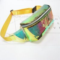 2018 Women PVC Jelly color Clear Fanny Waist bag chest pack ...