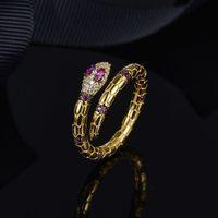 Geist Schlange Ring Kristall Diamant Gold Schlange Serie Neue Marke Persönlichkeit kreative Fingerring Schmuck