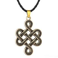 A23 Collana con ciondolo a nodi vintage croce Collana con amuleto irlandese a nodo nodo viking punk
