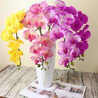 Венки Shinesasha 11 головы 110см искусственный фаленопсис латекс кремниевый кремний реальный сенсорный большой орхидеи белый многоцветный свадебный заводской цена экспертный дизайн