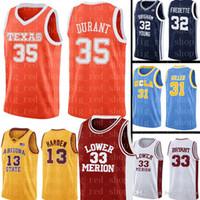 Davidson Wildcats Jersey 35 Kevin Durant Basketball Jerseys NCAA Mens University pas cher Jersey S-XXL
