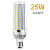 High Power milho Luz E27 LED lâmpada de 25W 35W 50W bulbo de lâmpada 110V LED E26 Fan alumínio arrefecimento Não Flicker Luz 2835.