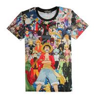 Симпатичные Единорог One Piece Луффи футболка повседневная хлопок футболка homme O шеи уличной человек футболка мальчики одежда аниме лето ТОП тройники
