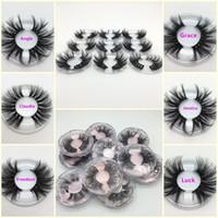 Neue 25mm 3D Mink Wimpern Lange Dramatische falsche Wimpern 100% Nerz Wimpern Make-up 5D Nerz Wimpern Dicke Lange Wimpernverlängerung