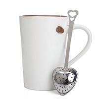 Herramienta de cocina amor corazón forma estilo Acero inoxidable té infusor cucharadita colador cuchara filtro alta calidad