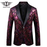 Erkekler Takım Elbise Blazers Plyesxale Çiçek Blazer Erkekler 2021 İlkbahar Sonbahar Erkek Rahat Yüksek Moda Balo Parti Sahne Kostümleri Homme Slim Fit Q740