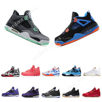 reputable site 4cfd4 a68e8 New Arrival. 2019 Hot New 4 4s Tattoo Singles Day Mens Basketball Shoes  Travis Scotts Raptors White Cement Royalty Black Gum men sports sneakers  designer