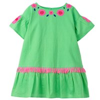 Baby Girls Dresses Floral Summer Short Sleeved A- line Round ...