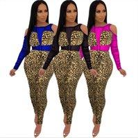 Dames Leopard Print Jumpsuit Lente Zomer Panelen Holle Rompertjes Sheer Legging Sexy Overalls S-XL Bodysuit Mode bretels 2648