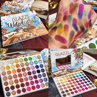 Eyeshadow Paleta 63 Cores Kit Maquiagem Verão colorido Matte Shimmer blendable brilhante do olho Sombra Pallete de seda em pó pigmentado