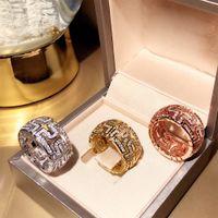 anello circolare partito marchio di moda Classic Jewelry Per gli anelli delle donne in oro rosa sfera degli uomini lussuosi banchetti Vendi il trasporto bene libero