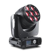무대 디스코 DJ 파티에 대한 W4 LED 7 * 40w 4IN1 LED 이동 머리 줌 빛 RGBW 무한 혼합물