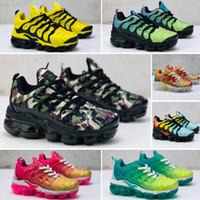 Plus TN 2018 tasarımcı ayakkabı Çocuklar Tn Artı Koşu Ayakkabıları Bebek büyük erkek kız Camo Siyah Beyaz Spor Sneakers Run artı TN Maxes Tasarımcı Ayakkabı