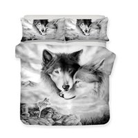 3D Bedding Set Wolf Wife Print Duvet Cover Animal Lifelike B...