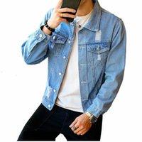 Новые джинсовые куртки мужские Мужские хип-хоп мужские ретро джинсовой куртки Street Casual Bomber Jacket Harajuku моды пальто