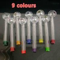 Pyrex Glaspfeife 9 Arten von bunten Glasschüssel Rohre Rohr Ölbrenner Rohrpfeife