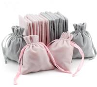 Velvet jóias sacos presente com Cord Proof cordão Poeira Jóias de armazenamento Cosmetic Crafts Embalagens malotes para Boutique Loja de Varejo
