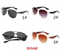 2019 new arrivel retro Vintage occhiali da sole montatura in metallo per donna Unisex 5068 MOQ = 10