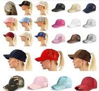 Chaude 29 colorés de cheval brillant chevaux de baseball respirant chapeau de baseball hommes femmes sacs camion d'été gorras doré brillant dame brillant chapeau