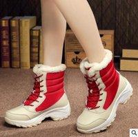 Теплый Мед Plaform сапоги Мода осень зима женщин снег Boots Высокий Top Женская повседневная обувь Комфортные