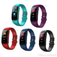 El más reciente de presión Y9 inteligente pulsera Actividad rastreador de ejercicios reloj monitor de ritmo cardíaco Sangre inteligente Banda para la Venta pulseras Android iOS calientes