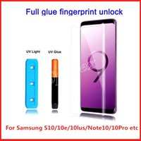Yeni Geliş Tam UV Sıvı Yapıştırıcı Kavisli temperli cam Ekran Koruyucu için Samsung Galaxy S10 S9 Artı S8 Note 10 3d