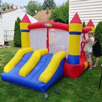 Jardim Home Use Bounce Casa Inflável Bouncy Castelo Trampoline Jumper Brinquedos Durável Slides