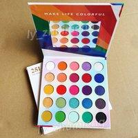 25L ظلال العيون Live In Color Makeup Eyeshadow Palette Make Life Colorful 25 Color Shimmer Matte Nude Eyeshadow Palette Brand Beauty Cosmetic