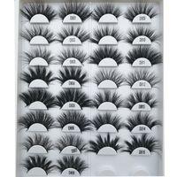 25 mm Pestañas Falsas CustomZied Logo Luxury Lashes Dramatic Lajas 25 mm Pestaña de visón 3D