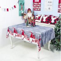 Décorations de Noël Dîner Tableau rectangle Table décorative Couvertures Restaurant Dinning Hall Décoration Noël Santa Modèle Tissu