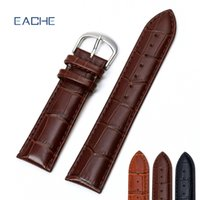 Watches Accessories Watchbands EACHE Genuine Leather Watch S...