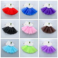 TUTU Roupa crianças Saias Bebés Meninas dança Mini Vestidos Ballet Tulle Pettiskirt macio Princess Party Fantasia Saias traje dancewear PY7198