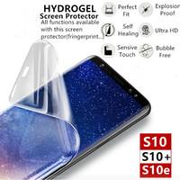 Protetor de tela 20D Hydrogel Filme Capa completa para Samsung S10 Nota 10 Plus para iPhone 11 7 8 Plus XR Aqua Protetor não vidro